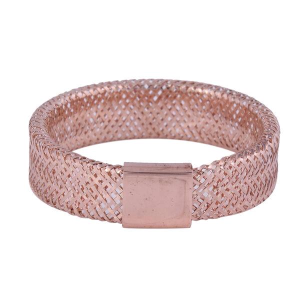 Italian Made - 9K Rose Gold Stretchable Ring (Size Medium) (Size J to P)