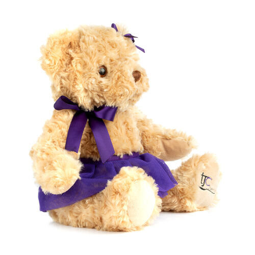 Christmas Special- Tara, Traditional Bear with TJC Knitted Scarf - 25cm