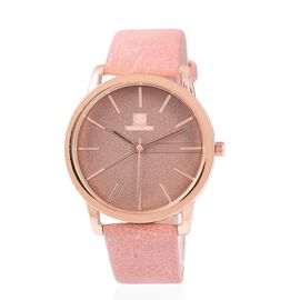 STRADA Japanese Movement Water Resistant Rose Gold Dail Watch With Pink Strap