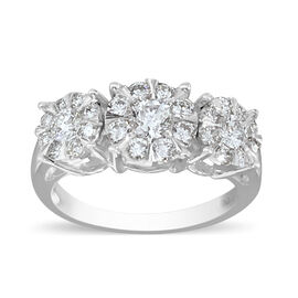 Monster Deal- New York Close Out Deal - 14K White Gold Diamond (I1/G-H) Ring 1.00 Ct.