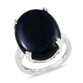 12.50 Ct Vivianite Solitaire Ring in Sterling Silver