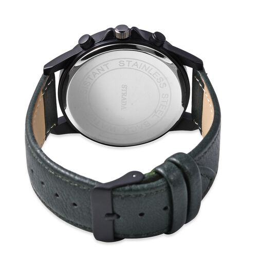 STRADA Japanese Movement Water Resistant Watch with Dark Green Colour Strap