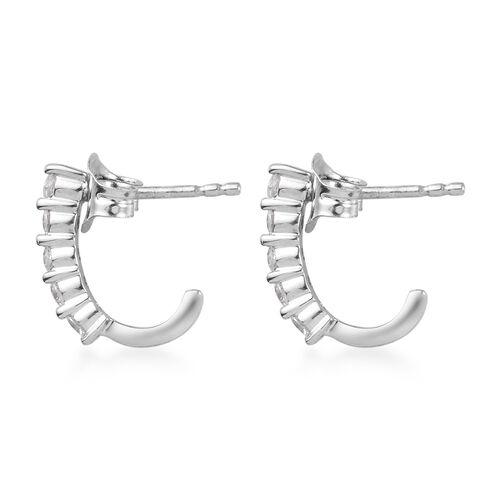9K White Gold SGL Certified Diamond (Rnd) (I3/G-H) Earrings (with Push Back) 0.50 Ct.