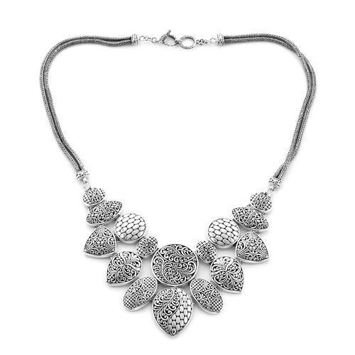 Royal Bali Collection Statement Necklace in Sterling Silver 20 Inch 98.17 Grams
