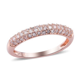 9K Rose Gold SGL Certified Pink Diamond (I3) Band Ring 0.50 Ct.