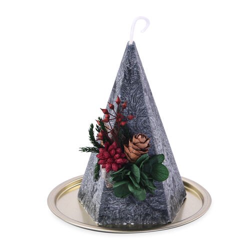 The 5th Season - Set of 2 - Christmas Tree Shaped Scented Candles in Gift Box (Candle Size 7.5x7.5x12.5cm) - Green