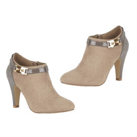 Lotus Taupe Print/Patent Candice Shoe Boots
