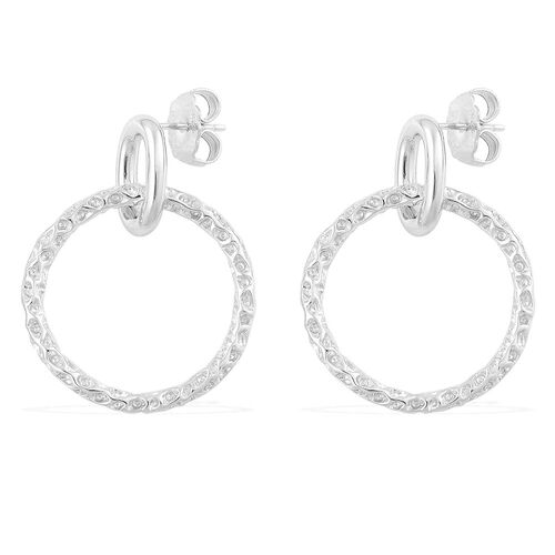 RACHEL GALLEY Rhodium Plated Sterling Silver Earrings (with Push Back), Silver wt 11.53 Gms.