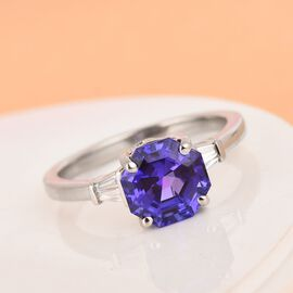 RHAPSODY AAAA Tanzanite and Diamond (VS/E-F) Ring 2.70 Ct, Platinum wt. 5.00 Gms