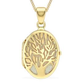 Tree of Life Locket Pendantin 9K Yellow Gold 3.20 Grams