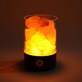 Himalayan Rock Salt Lamp with USB Cable (Size 9.4x6.4x14 Cm) - Black