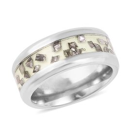 1 Carat Meteorite Glow in the Dark Spinner Ring in Titanium