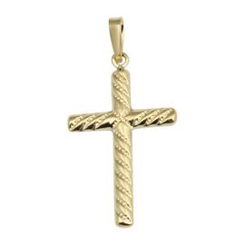 Vicenza Collection Spiral Cross Pendant in 9K Gold
