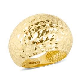 Ottoman Treasure 9K Y Gold Diamond Cut Ring, Gold wt 4.00 Gms.