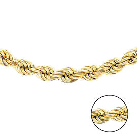 Hatton Garden Close Out 9K Yellow Gold Rope Necklace (Size 30), Gold wt 14.47 Gms.