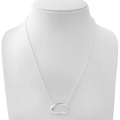 Designer Inspired - Sterling Silver Necklace (Size 20), Silver wt 8.61 Gms.