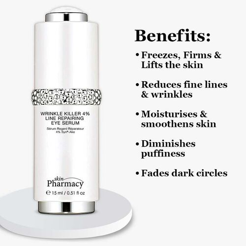 Skin Pharmacy:  Wrinkle Killer 4% Line Repairing Eye Serum - 15ml