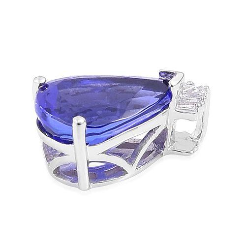 RHAPSODY 5.58 Ct AAAA Tanzanite and Diamond Crown Pendant in 950 Platinum