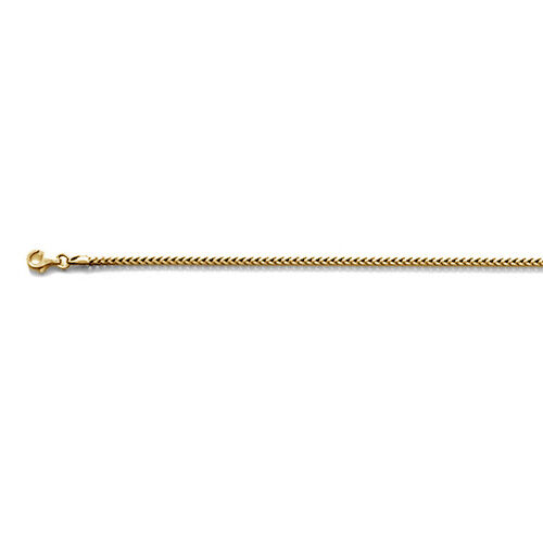 JCK Vegas Collection 14K Gold Overlay Sterling Silver Round Franco Chain (Size 20), Silver wt 9.12 Gms.