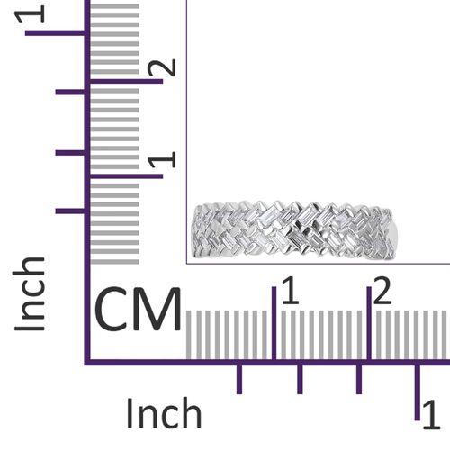 ILIANA 18K White Gold  Diamond (Bgt) IGI Certified (SI/G-H) Zig Zag Ring 0.500 Ct.