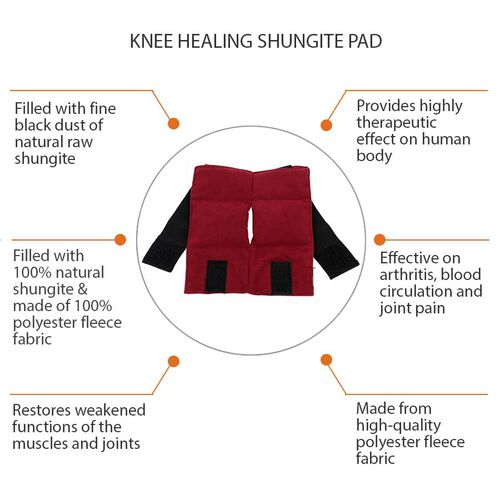 Shungite Elbow Pad (Size 20x18 Cm) - Red Colour
