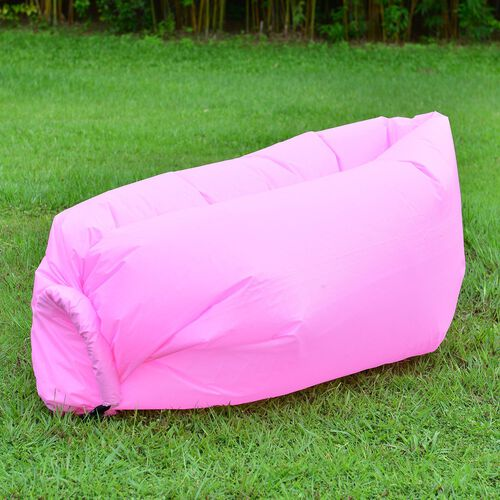 Light Pink Colour Self Inflating Air Lounger with Carry Pouch