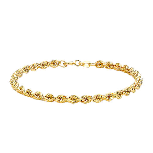 Hollow Rope Bracelet in 9K Yellow Gold 2.20 grams 7.5 Inch