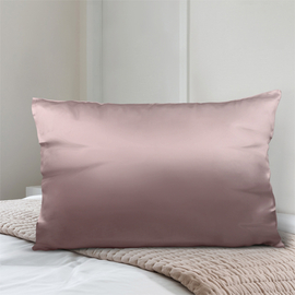 SERENITY NIGHT 100% Mulberry Silk Pillowcase Infused with Hyaluronic & Argan Oil in Pink (Size 75x50 Cm)