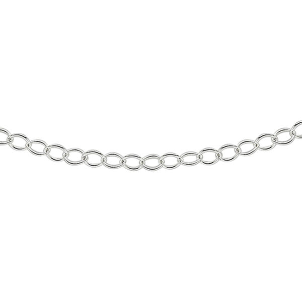 Sterling Silver Rolo Chain (Size 24)