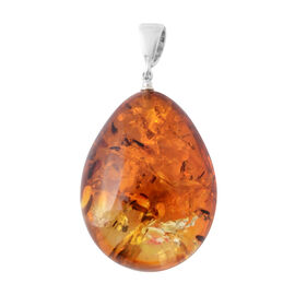 Baltic Amber Pendant in Sterling Silver