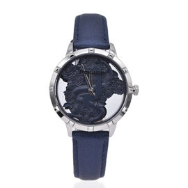 Police MARIETAS Watch with Navy Leather Strap