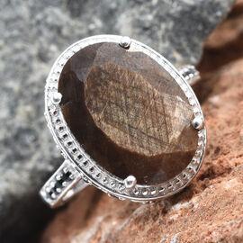 GP Zawadi Sheen Sapphire (Ovl 13.90 Ct), Boi Ploi Black Spinel and Kanchanaburi Blue Sapphire Ring i