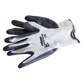 Grey Nitrite Coated Work Gloves (Large)