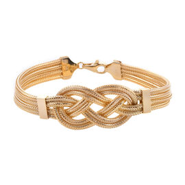 Royal Bali Collection - 9K Yellow Gold Celtic Knot Bracelet (Size 7.5), Gold wt 12.62 Gms