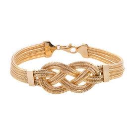 9K Yellow Gold Celtic Knot Bracelet (Size 7.5), Gold wt 12.62 Gms