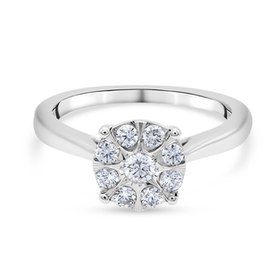 NY Close Out Deal - 14K White Gold Diamond (I1/G-H) Ring 0.40 Ct, Gold wt. 3.50 Gms