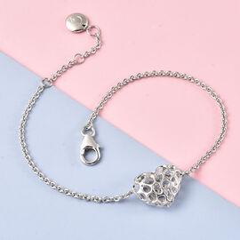 RACHEL GALLEY  Rhodium Overlay Sterling Silver Bracelet (Size - 8)