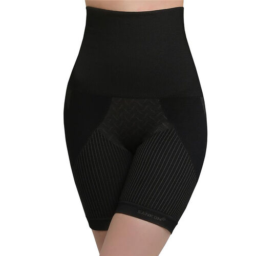 SANKOM SWITZERLAND Patent Aloe Vera fibers Posture Correction Shapers Shotrs - Black (Size XXL / 18 plus)