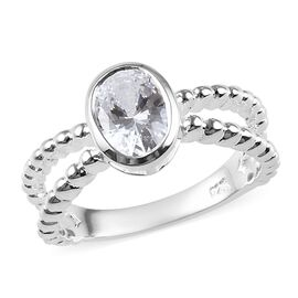 J Francis Made with SWAROVSKI ZIRCONIA Solitaire Ring in Sterling Silver