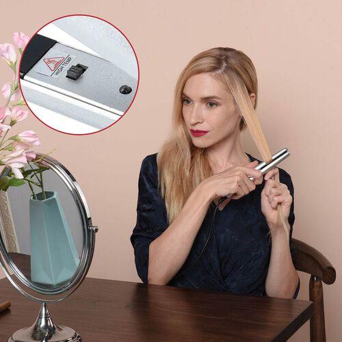 Mini Hair Straightener - Silver