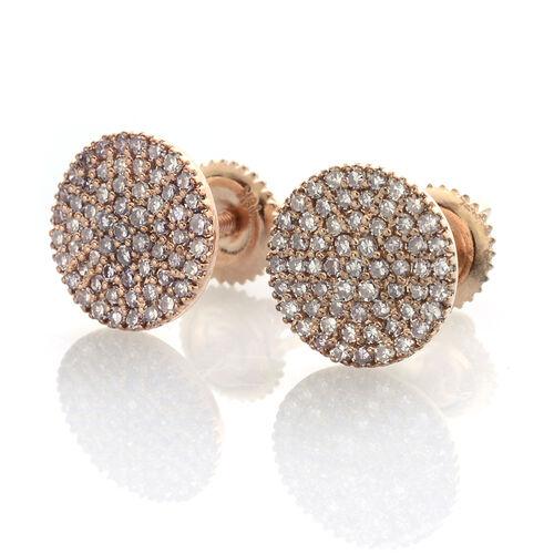 ILIANA 18K Rose Gold 0.50 Carat Very Rare Natural Pink Diamond (Rnd) Stud Earrings (with Screw Back)