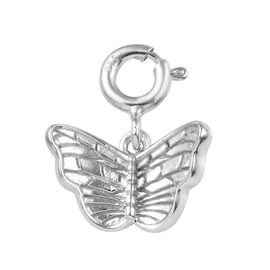 Platinum Overlay Sterling Silver Butterfly Charm