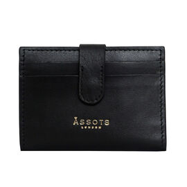 Assots London GROVE 100% Genuine Leather RFID Cardholder - Black