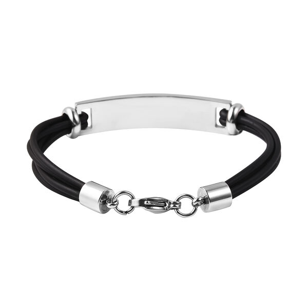 Bar Multi Strand Bracelet (Size 7.5) with Lobster Lock in Stainless Steel