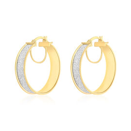 Stardust Hoop Earrings in 9K Yellow Gold 3.10 Grams