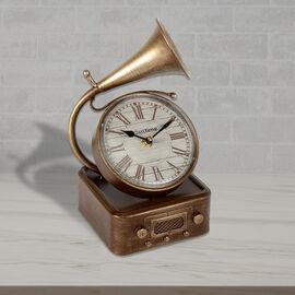 Hometime Metal Mantel Clock - Gramophone