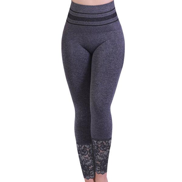 Super Find - SANKOM SWITZERLAND Patent Shaper leggings with Lace - Grey (Size M-L, 12-18)