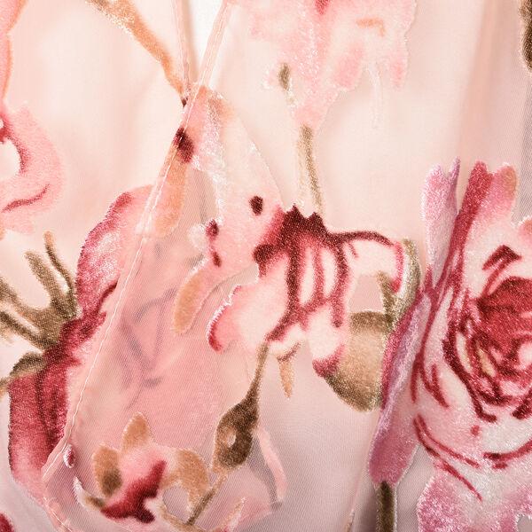 Pink Colour Floral Pattern Kimono (Free Size; L-66 Cm)