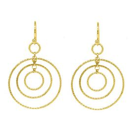 One Time Close Out Deal - Yellow Gold Overlay Sterling Silver Chandelier Earring