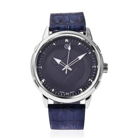 STRADA Japanese Movement Water Resistance Watch in Stainless Steel - Navy Blue